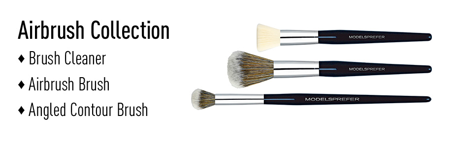 Airbrush Collection, Brush Cleaner, Airbrush Brush, Angled Contour Brush