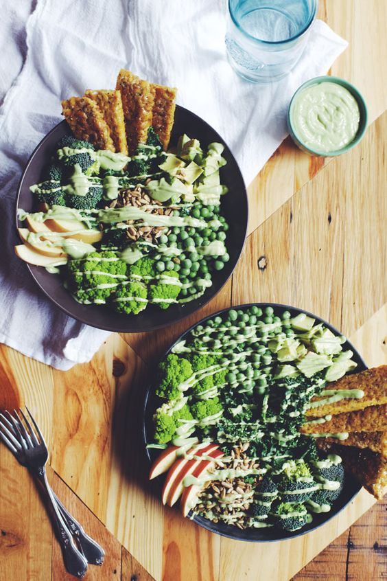 Brewing Happiness' Tempeh Green Goddess Salad