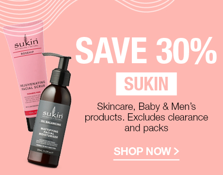 SAVE 30% SUKIN SKINCARE, BABY & MEN'S PRODUCTS. EXCLUDES CLEARANCE AND PACKS